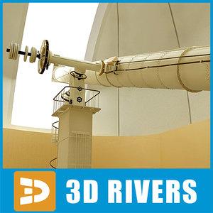 observatory telescopes 3dr091 3d 3ds