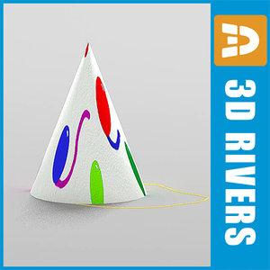 free paper hat 3d model