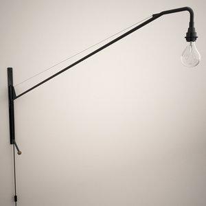 prouvé potence lamp 3d model