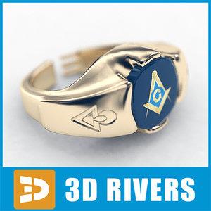 3d mason ring