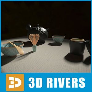 set japanese tea ceremony 3d 3ds