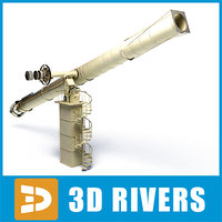 3ds max observatory telescope