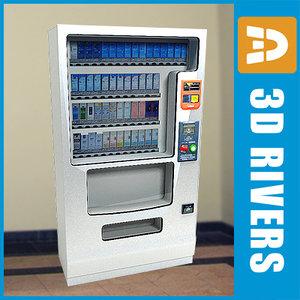 tobacco vending machine 3d max