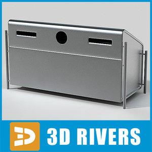 3d bin trash cans model