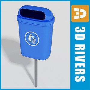 plastic trash cans 3d max