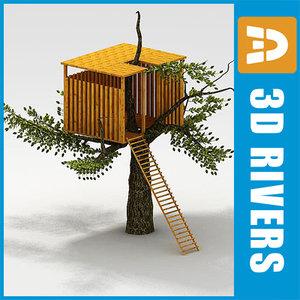 3d model kids tree house