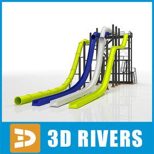3d model water slides