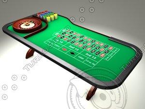 roulette table c4d