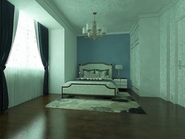 3D model interior bedroom 5000x4000