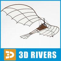 flying machine da vinci 3ds