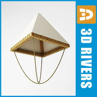 flying da vinci parachute 3d model