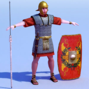 imperial roman 20ad 3d model