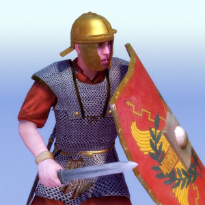 imperial roman legionary 20ad 3d model