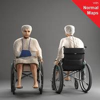 3d model metropoly characters human