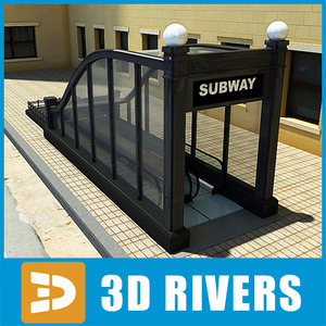 chicago subway entrance 3d model