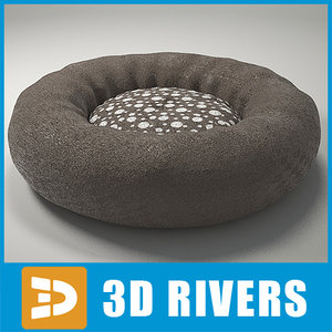 3d model dog bed