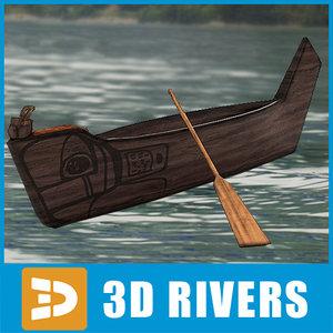 3d traditional kayak model