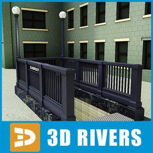 3d model new york subway entrance