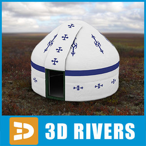 3d nomad tent home model