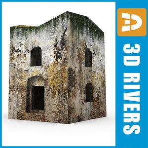 simple home ruins 3d model