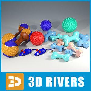 3d pet toys set model