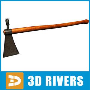 tomahawk axe native 3d 3ds
