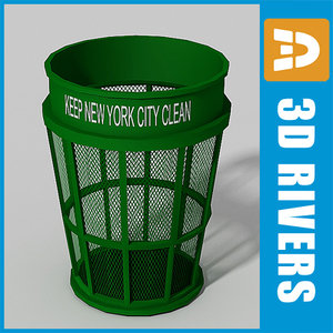 3dsmax perforated trash cans