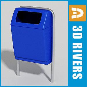 street trash cans 3d model