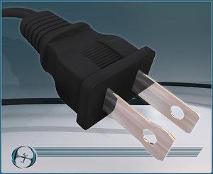 outlet plug 3d max