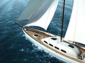 sailing yacht obj