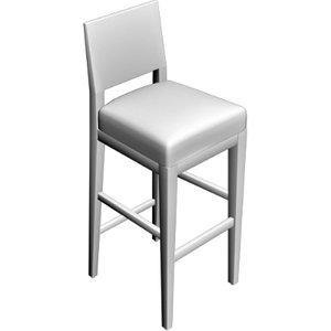 3d bistro chair model