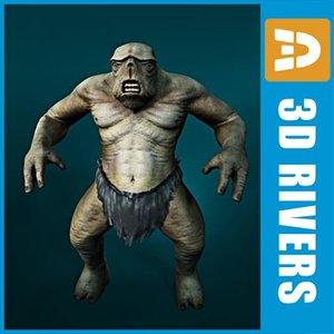 3d max cave troll fantasy creatures