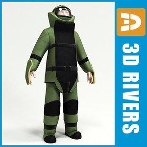 combat engineer 3d model