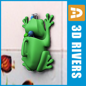 3d model baby toy frog pot