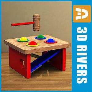 3d hammer toys model
