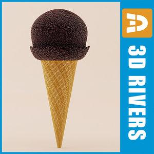 ice cream 3d max