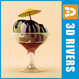 3ds max ice cream dessert