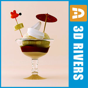 ice cream dessert 3d max