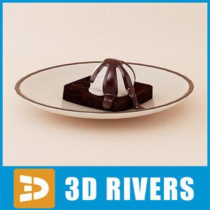 brownie ice cream 3d model