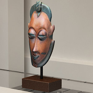 african mask 3d 3ds