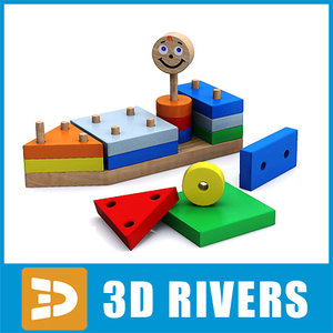baby toy pyramid 3d model