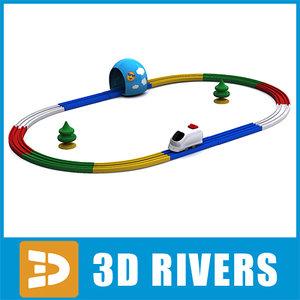 3d 3ds baby toy railway
