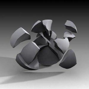 fracture ball 3d max