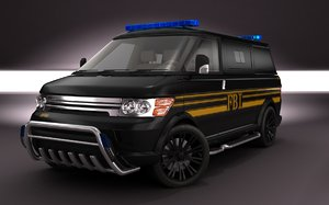 2011 multi-minivan fbi concept 3d model