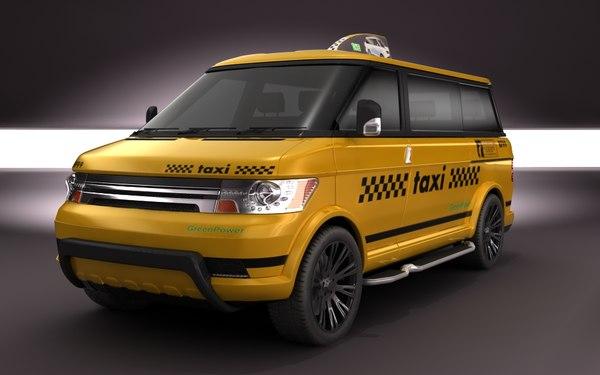 3d multi-minivan taxi concept van model