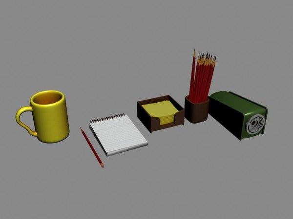 notepad pencil sharpener 3d model