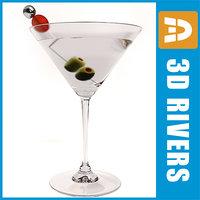 3d model dirty martini