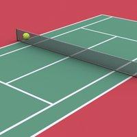 3ds max tennis court ball
