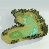 Golf Course Hole 01