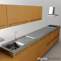 kitchen 3d 3ds